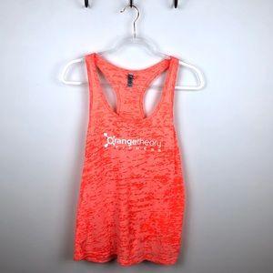 OrangeTheory Fitness Orange Burnout Tank Top Large